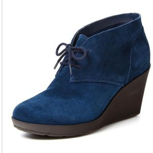 Cole Haan Blue Britt Chukka Wedge Boot 8